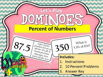 DOMINOES | Percent of a Number | Activity