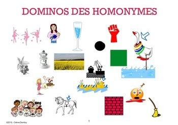 DOMINOS DES HOMONYMES