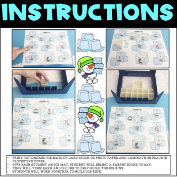 DON'T BREAK THE ICE, GAME COMPANION, ARTICULATION (SPEECH & LANGUAGE THERAPY)