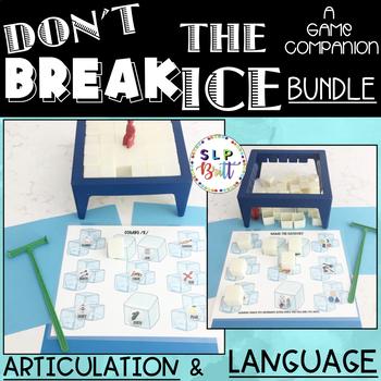 DON'T BREAK THE ICE, GAME COMPANION, BUNDLE (ARTICULATION & LANGUAGE)