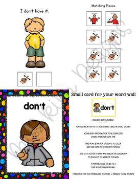 DON'T Core Vocabulary Bundle for Special Education Teachers