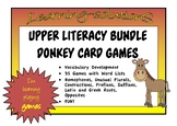 DONKEY CARD GAME BUNDLE - 23 GAMES - Prefixes, Suffixes, Opposites, Contractions
