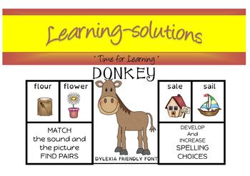 DONKEY CARD GAME - Homophones - Phase 8 - Freebie