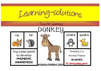 DONKEY CARD GAME - Phases 1,2&3 (Foundation Phonics) - Bundle of 19 Games