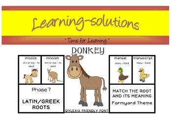 DONKEY GAME - Phase 7 Latin and Greek Roots