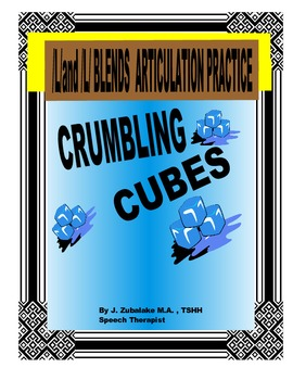 SPEECH THERAPY CRUMBLING CUBES /L/ and /L/ BLEND ARTICULATION PRACTICE