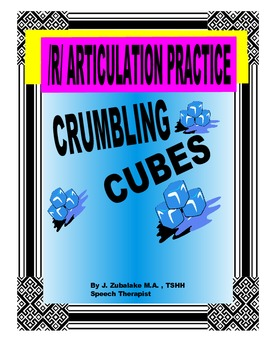 SPEECH THERAPY CRUMBLING CUBES /R/ ARTICULATION PRACTICE
