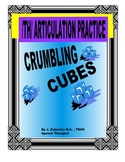 SPEECH THERAPY CRUMBING CUBES /TH/ ARTICULATION PRACTICE