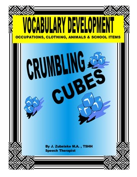 SPEECH THERAPY CRUMBLING CUBES VOCABULARY DEVELOPMENT