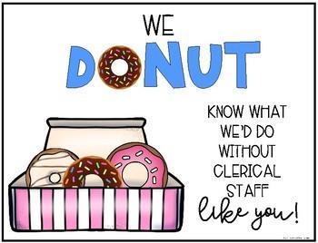 Donut Gift Tag Printable