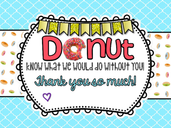 DONUT Thank You Sign