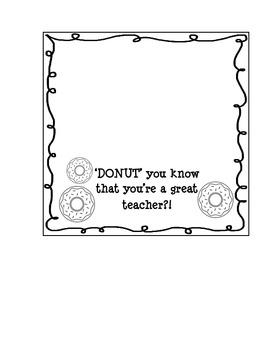 DONUT Treat Bag Toppers for TEACHERS
