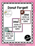 DONUT forget to write your name! Poster