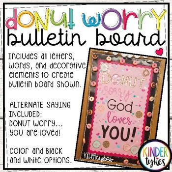 DONUT worry bulletin board set