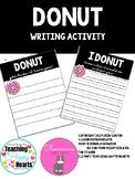 DONUT writing activity