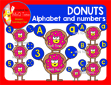 DONUTS ALPHABET AND NUMBERS CLIPART SET