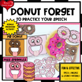 DONUTS ARTICULATION PRONOUNS FEEDING MOUTH EASY PREP NO PREP