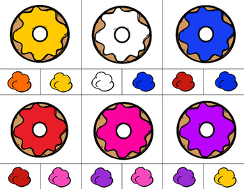 DONUTS Color Match Clip It {A Beginning Work Task)