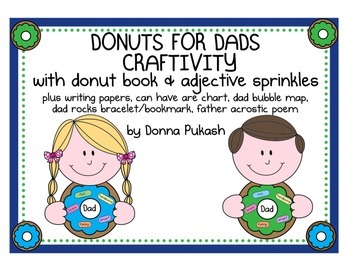 DONUTS FOR DADS CRAFTIVITY- with donut book & adjective sprinkles plus more!