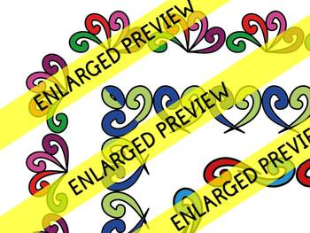 DOODLE BORDERS:  RECTANGLE CLIPART BORDERS: WHIMSY CLIPART FRAMES: