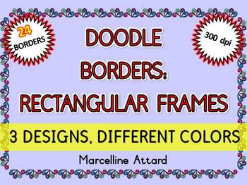 DOODLE FRAMES AND BORDERS CLIPART WHIMSY STYLE