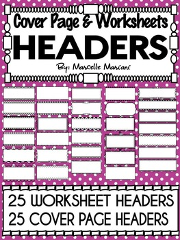 DOODLE HEADERS FOR COVER PAGES AND WORKSHEETS (50+ IMAGES)
