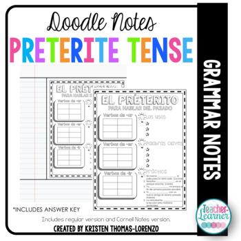 DOODLE NOTES: Preterite Tense Verbs