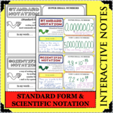 DOODLE NOTES Standard Form & Scientific Notation Activity Interactive Notebook