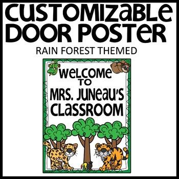 DOOR POSTER CUSTOMIZABLE (RAIN FOREST)