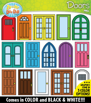 DOORS Build-A-Room Clipart {Zip-A-Dee-Doo-Dah Designs}