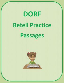 DORF Retell Practice Pages (DIBELS)