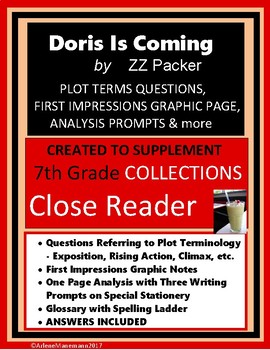 DORIS IS COMING Short Story Study Unit