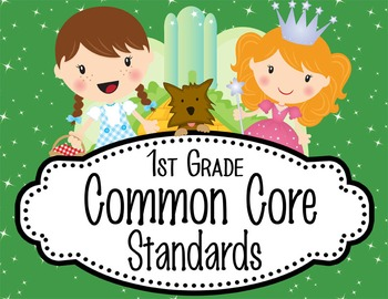 """DOROTHY & OZ - 1st Grade Common Core Standards """"I CAN"""" for"""