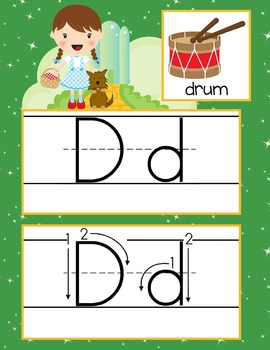 DOROTHY & OZ - Alphabet Cards, Handwriting, Flash Cards, ABC print with pictures