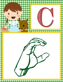DOROTHY & OZ - Alphabet Banner, SIGN LANGUAGE