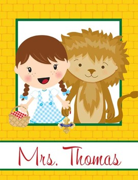 DOROTHY & OZ - Binder Covers / MS Word, you personalize