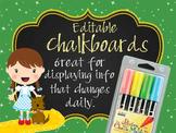 DOROTHY & OZ - Class Decor: editable chalkboard  POSTERS / Bistro Chalk Markers