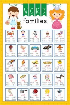 DOROTHY & OZ - Classroom Decor: Lang Arts, Word Families P