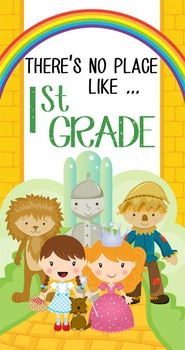 DOROTHY & OZ - Classroom Decor: SMALL BANNER, There's No Place Like 1st Grade