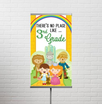 DOROTHY & OZ - Classroom Decor: SMALL BANNER, There's No Place Like 3rd Grade