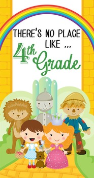 DOROTHY & OZ - Classroom Decor: SMALL BANNER, There's No Place Like 4th Grade