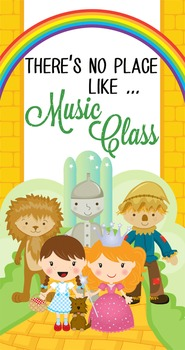 DOROTHY & OZ - Classroom Decor: SMALL BANNER, There's No Place Like Music Class