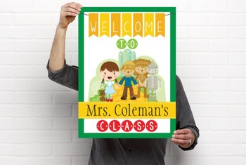DOROTHY & OZ - Classroom Decor: WELCOME Poster - 18 x 24, you personalize