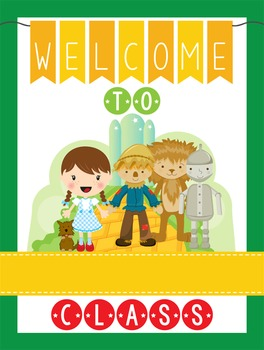 DOROTHY & OZ - Classroom Decor: WELCOME Poster - 18 x 24,