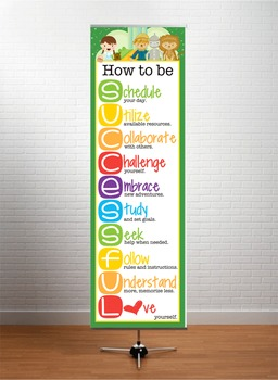 DOROTHY & OZ - Classroom Decor: XLARGE BANNER, How to be Successful