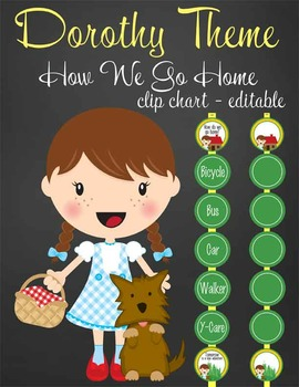 DOROTHY & OZ - Clip Chart GOING HOME / MS Word, editable