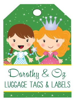 DOROTHY & OZ - Labels and Luggage Tags, MS Word, EDITABLE