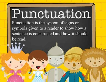 DOROTHY & OZ - Punctuation Posters / MS Word, editable
