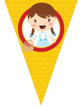 DOROTHY & OZ - Triangle Banners, Create - A - Banner, EDITABLE