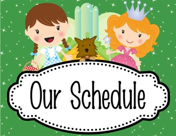 DOROTHY & OZ - Schedule Cards / editable MS WORD / Illustrated